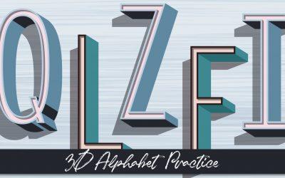 3D Alphabet Practice
