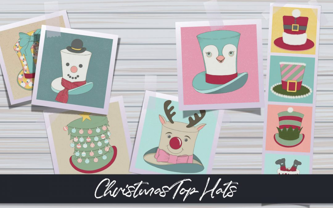 Christmas Top Hat Illustration Series