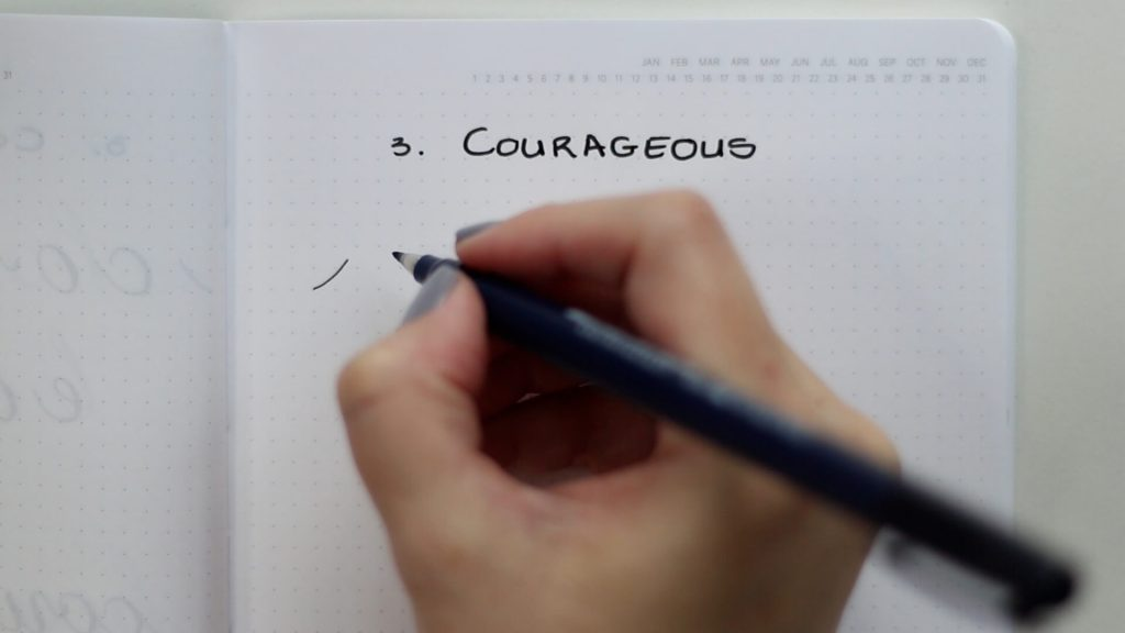 26 words in basic strokes word 3 courageous