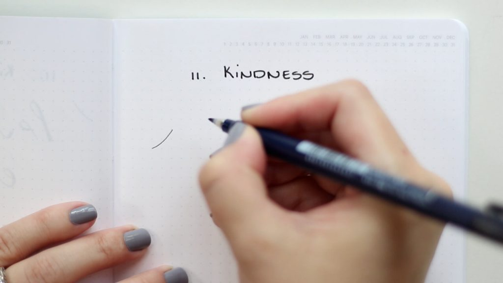 26 Words in Basic Strokes Word 11 kindness