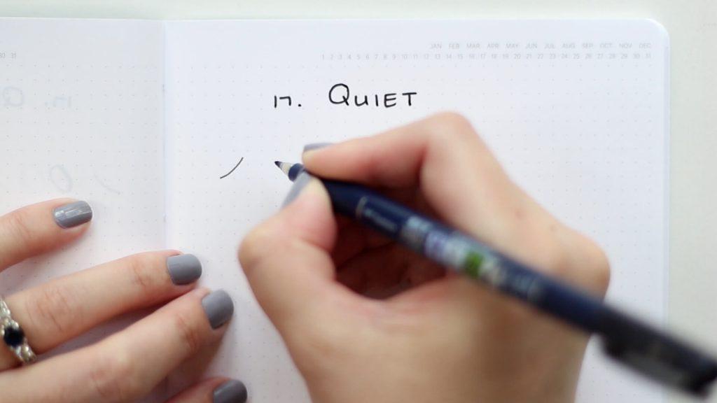 26 words in basic strokes word 1 quiet